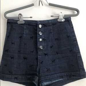 RARE Topshop Dog Shorts with Tie